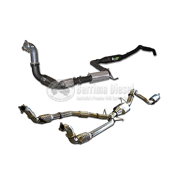 ( TaipanXP Exhaust kit in 409 Stainless Steel ) Suitable for Toyota Landcruiser 79 Series 1HZ